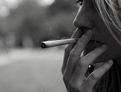 girl smoking weed