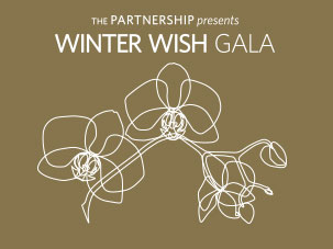 Winter Wish Gala - white orchid on gold background