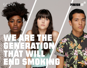 """We are the generation that will end smoking"""