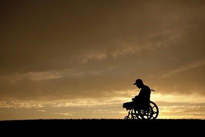 Veteran amputee silhouette