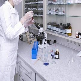 drug company lab