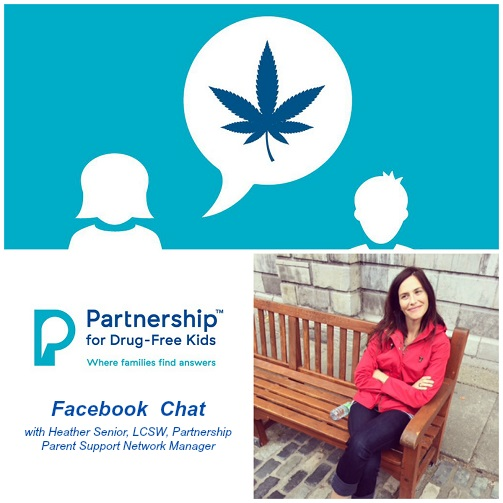 Collage- Marijuana Talk Kit Facebook Chat with Heather Senior- Partnership for Drug-Free Kids