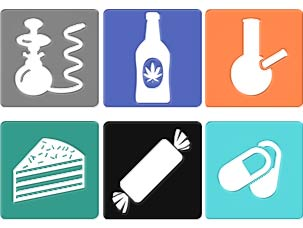 icons of different ways marijuana is consumed