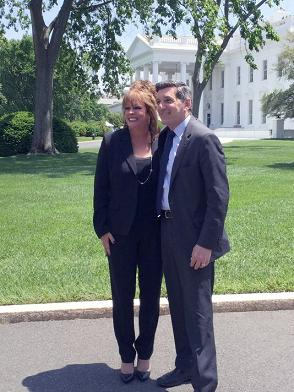 Denise Mariano and White House Office of the National Drug Control Policy Director Michael Botticelli
