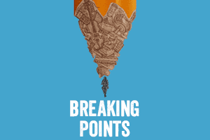breaking points logo and picture of a stressed person