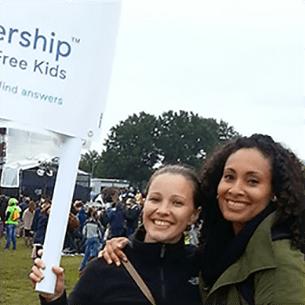 Partnership for Drug-Free Kids staff rally