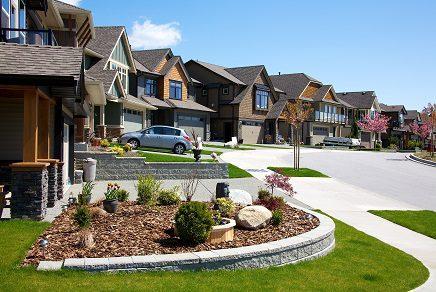 suburbs street house