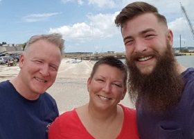 a young man in recovery and his parents