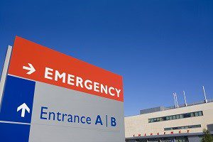 Hospital emergency room ER