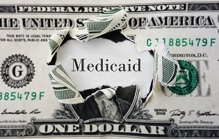 Medicaid dollar bill money