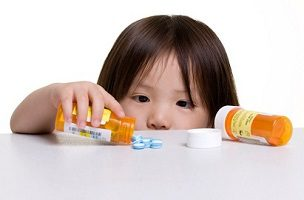 child with pills
