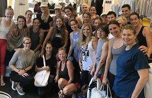 Group photo of Soul Cycle participants