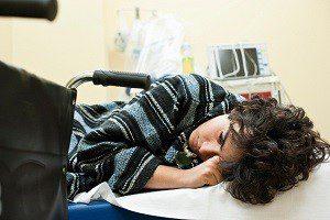 teen in hospital