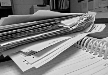 stacks of paperwork
