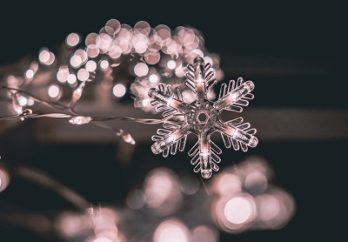 snowflake and holiday lights